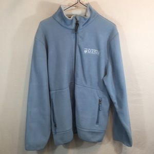 Charles River Large Baby Blue Fleece Jacket NWT